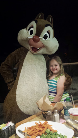 Dining with Chip & Dale at Garden Grill